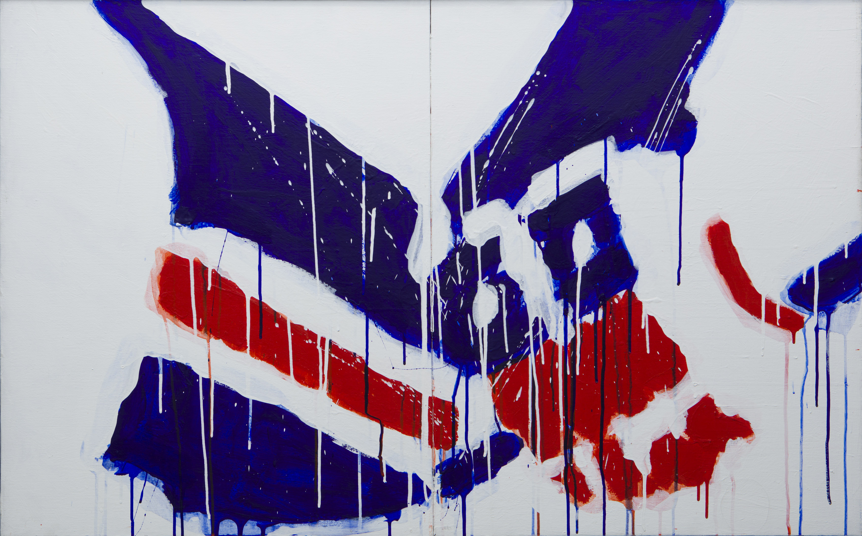 Serge Lemoyne - Peinture no 3 (série Bleu, Blanc, Rouge) - BYDealers